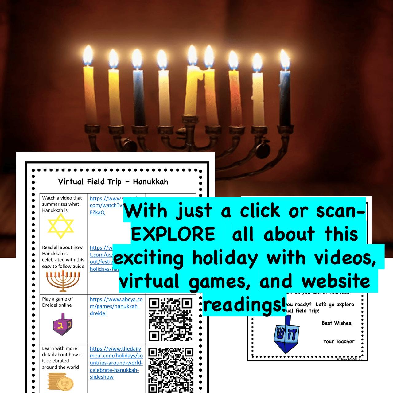 Hanukkah Virtual Field Trip -  Holidays Around the World