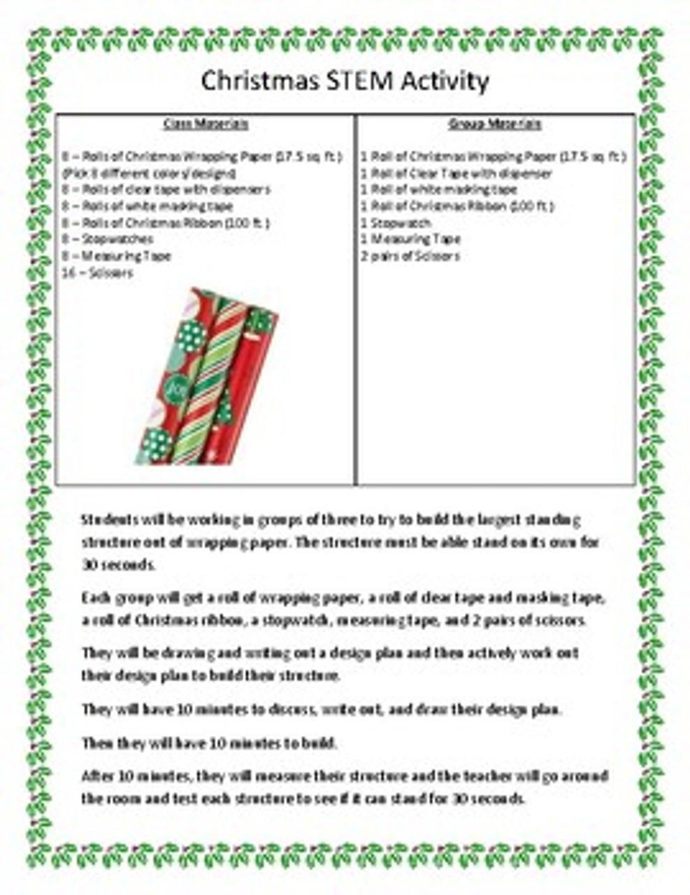 Christmas STEM Activity