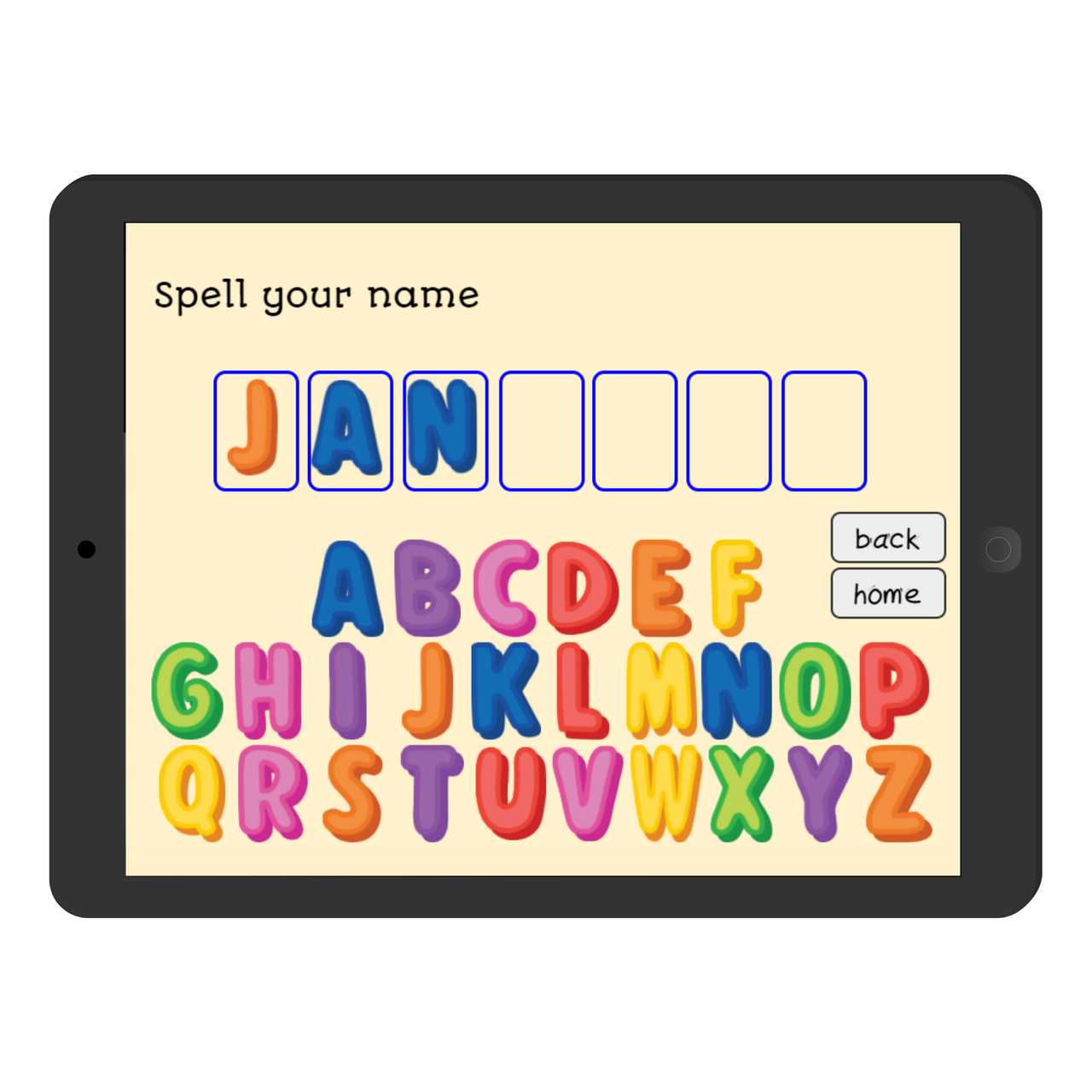 Spell Your Name Boom Cards