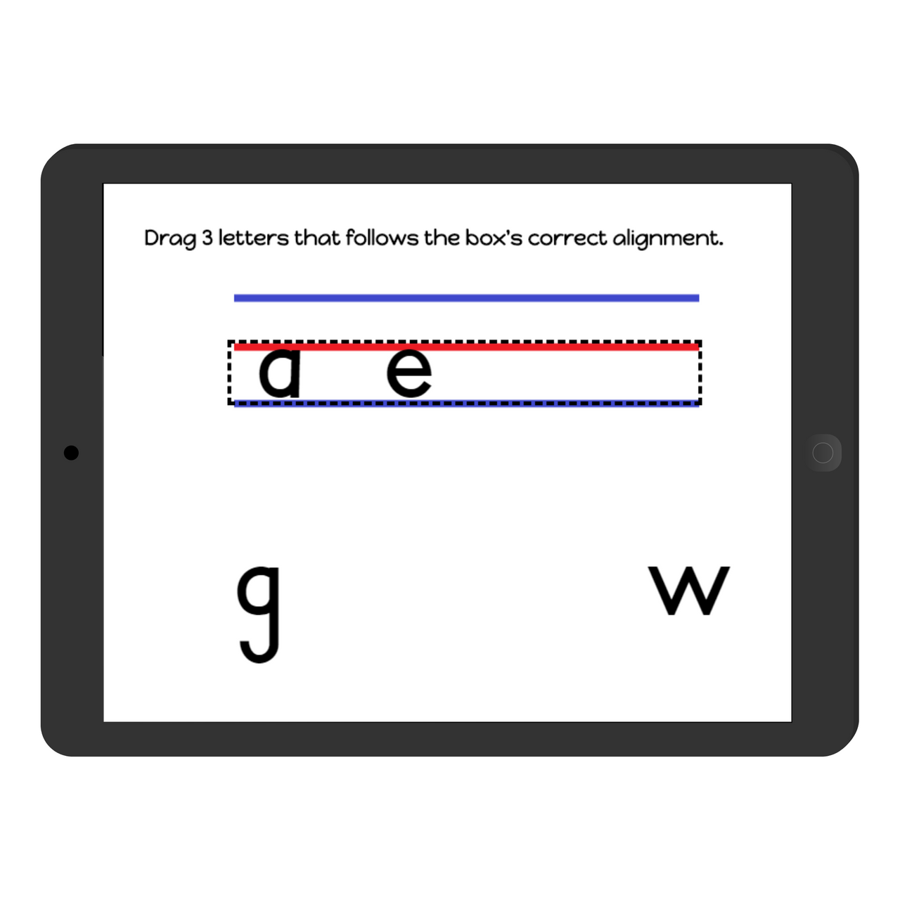 Handwriting Practice: Letter Alignment Boom Cards