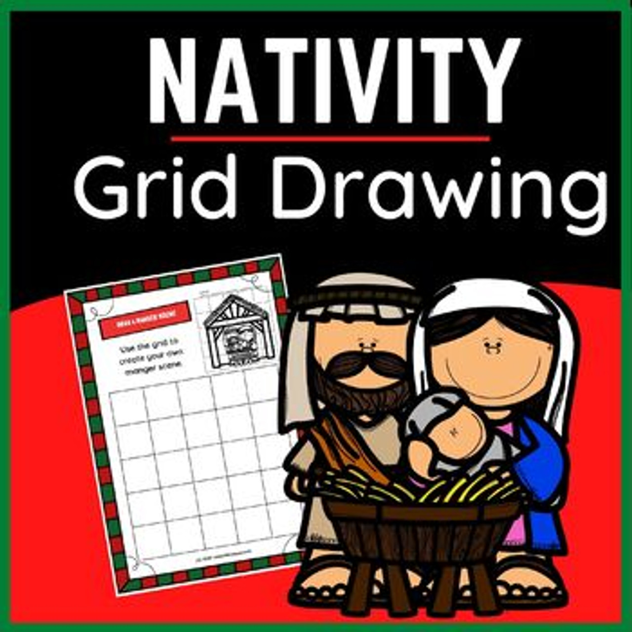 Draw Your Own Nativity Scene for Christmas