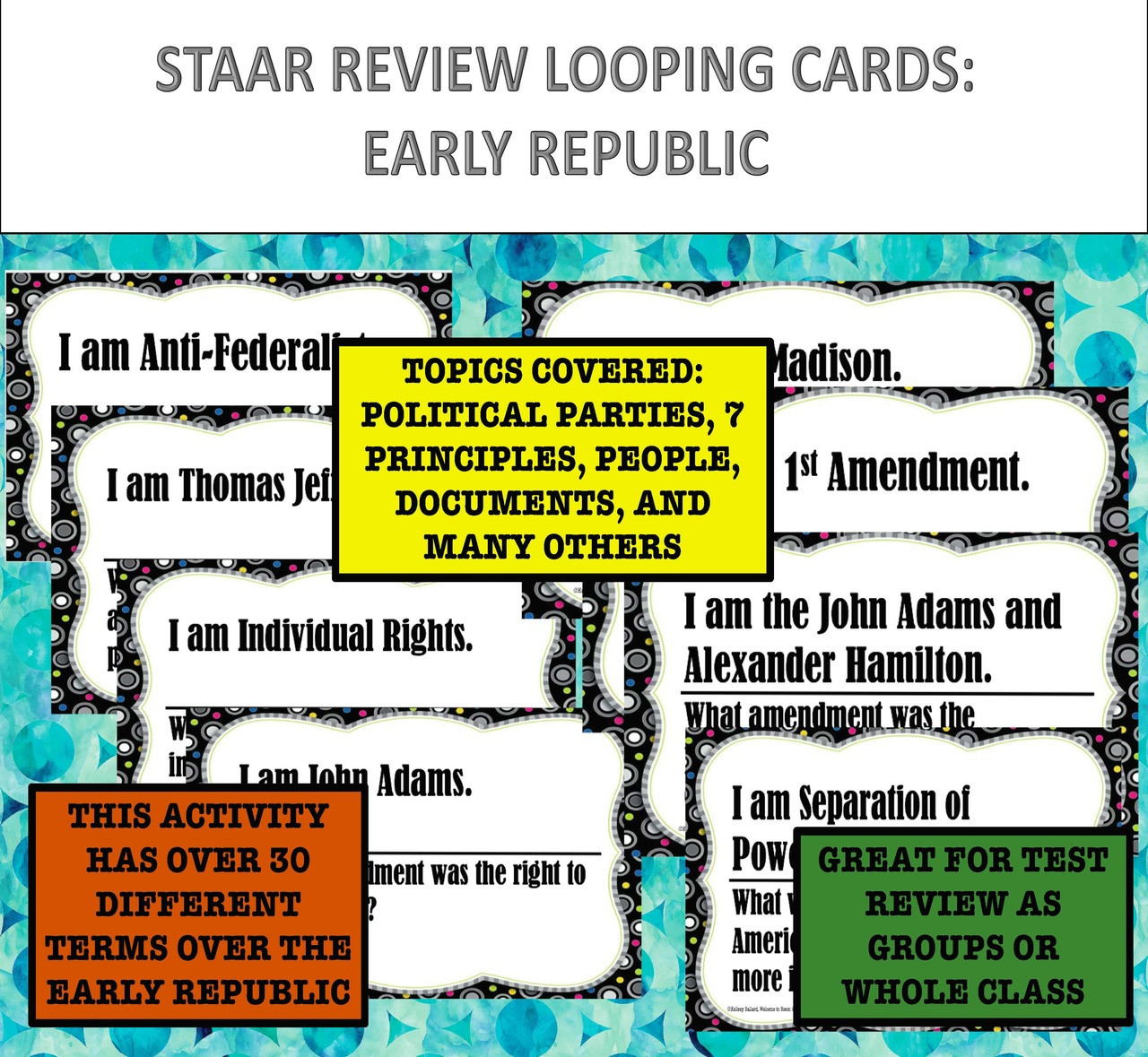 American History STAAR Review: Early Republic Looping Cards