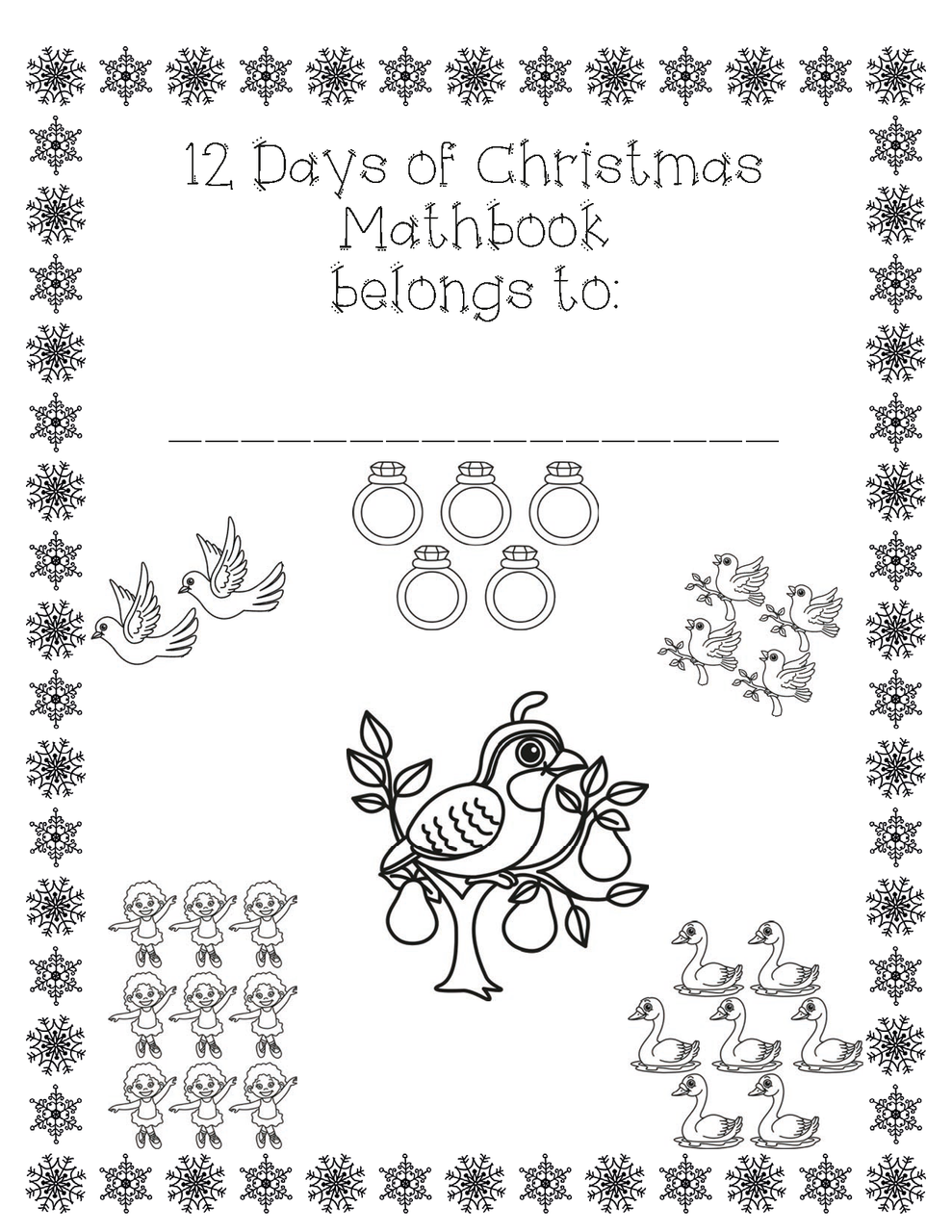 12 Days of Christmas Math Booklet