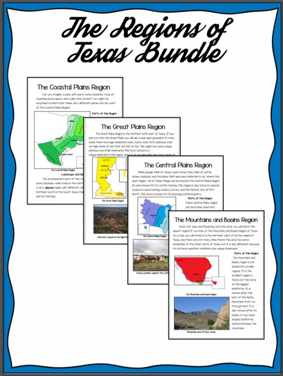 Regions of Texas- Bundle