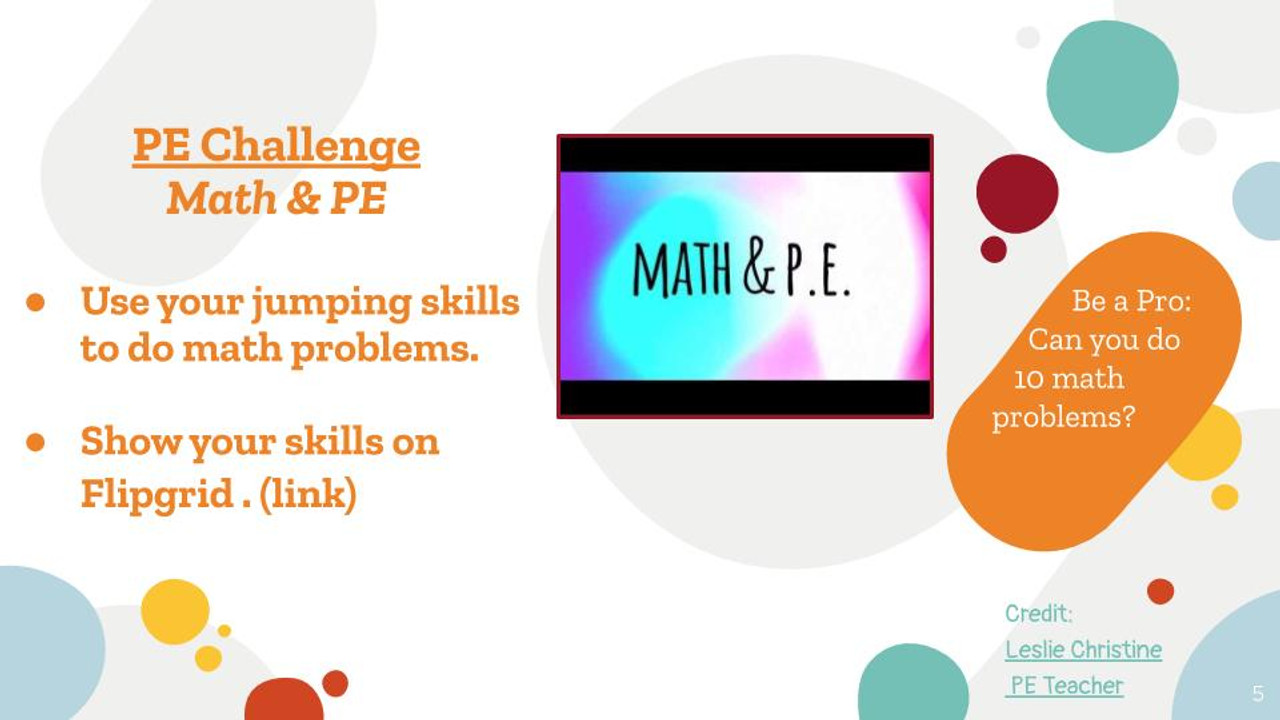 PE & Wellness Challenges BUNDLE- Distance Learning