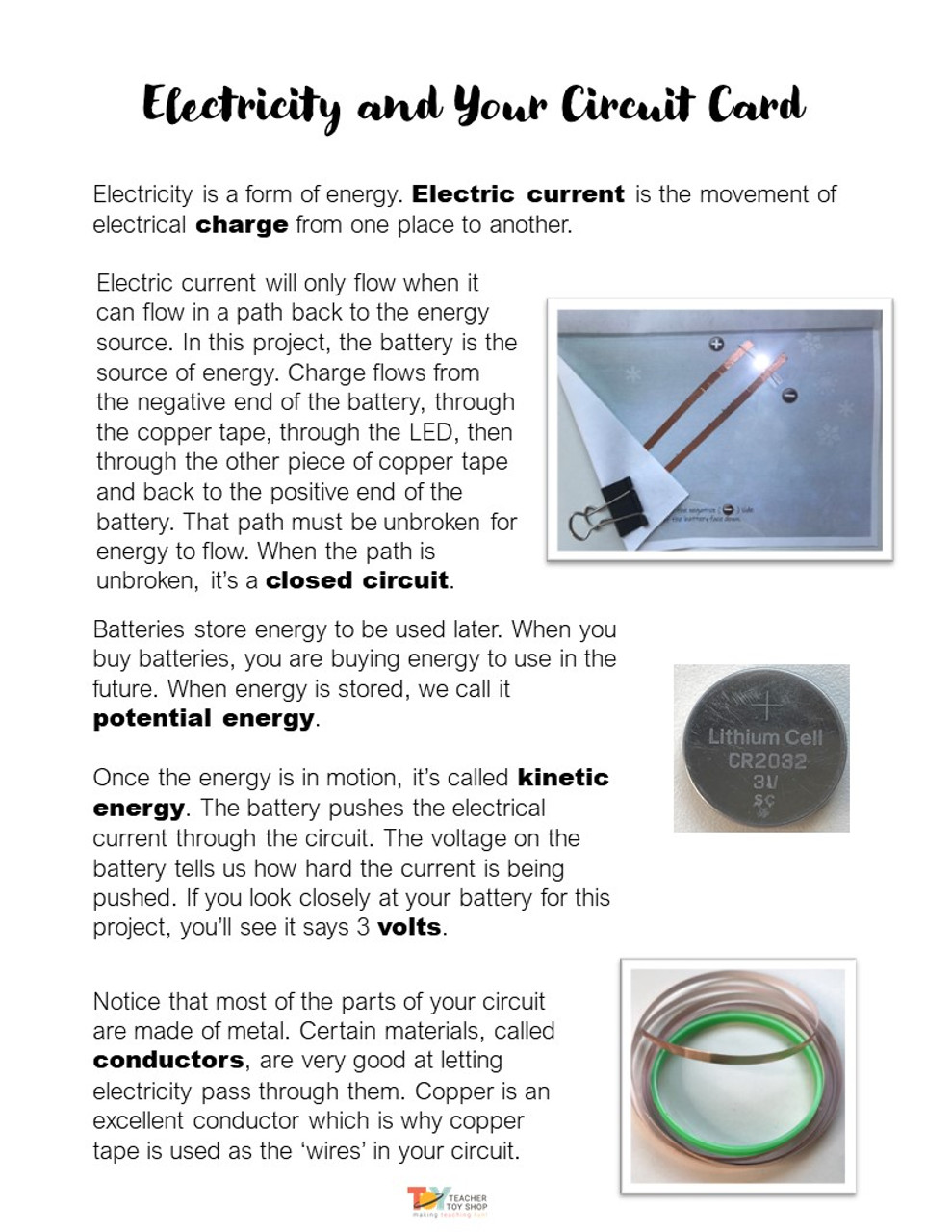 STEM Electricity Paper Circuit Cards Activity | Circuits Project