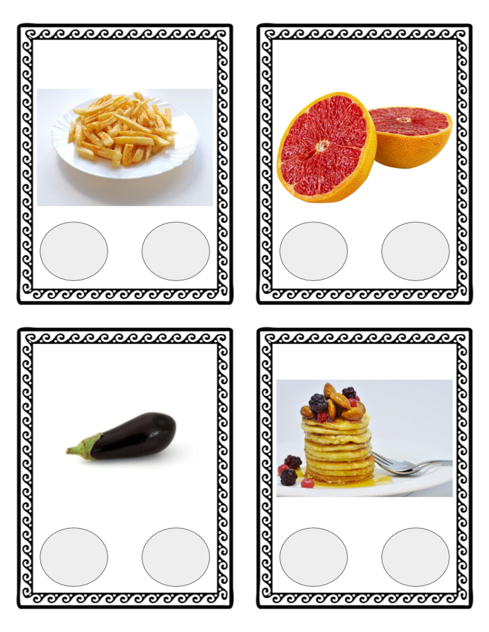 Phonological Awareness Picture Cards for Two-Syllable Compound Words