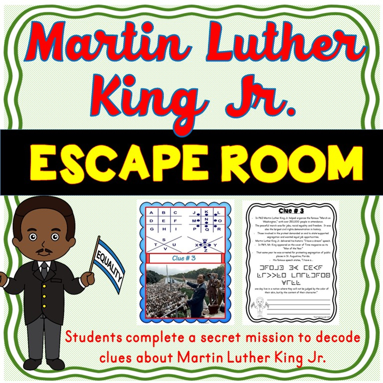 Martin Luther King Jr Escape Room Amped Up Learning