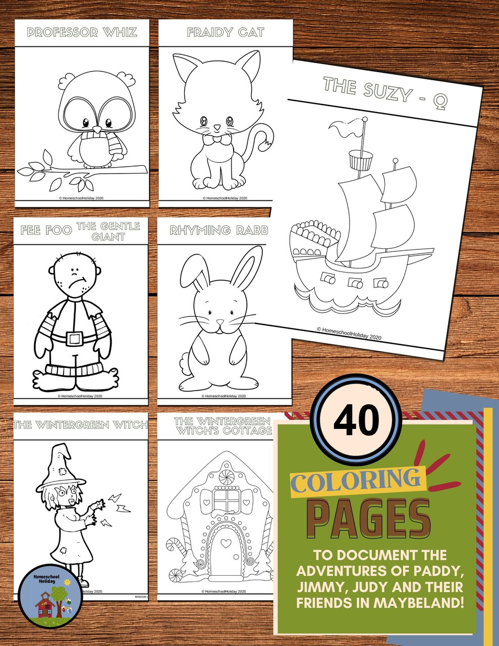 The Cinnamon Bear listening links and Coloring Book