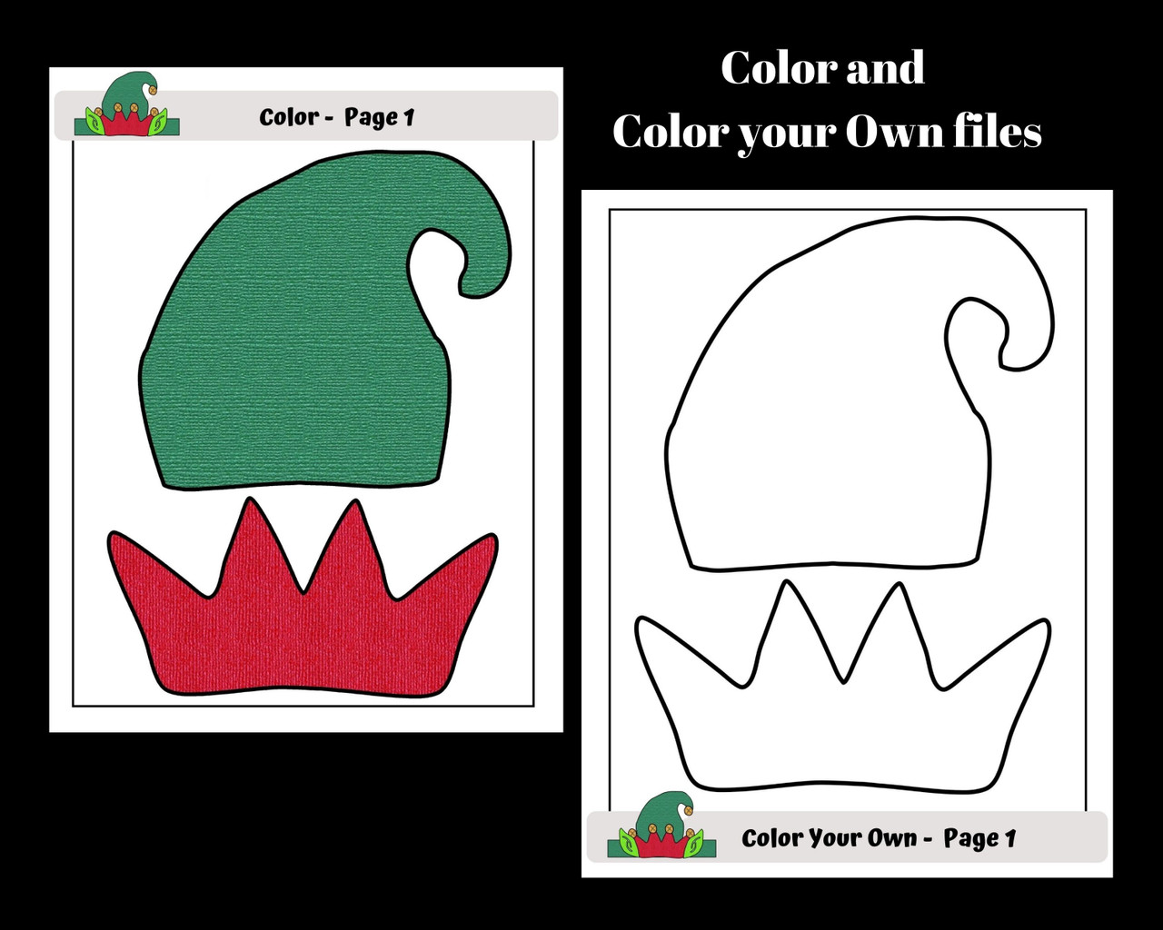 Christmas Elf Hat Craft - Freebie