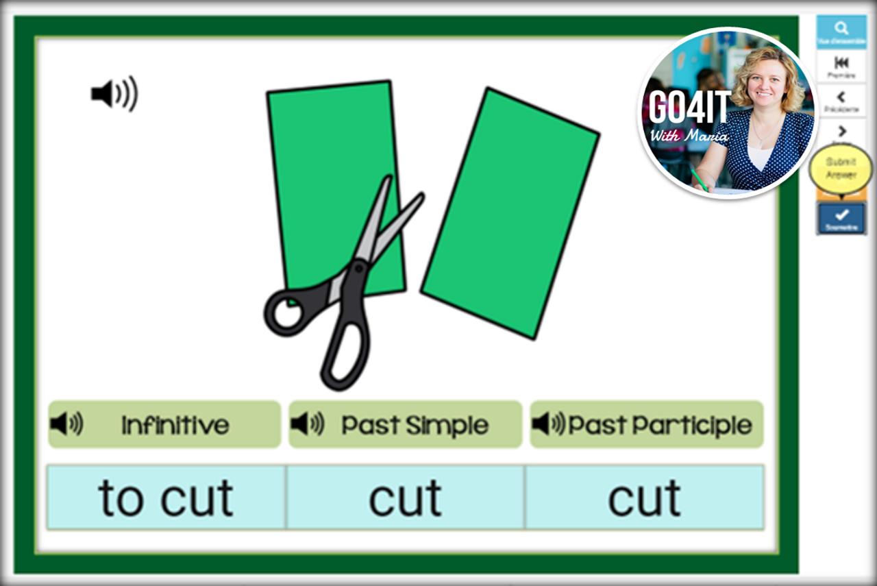 Boom Cards™ – Irregular Verbs - Group 1 - Easy | Audio