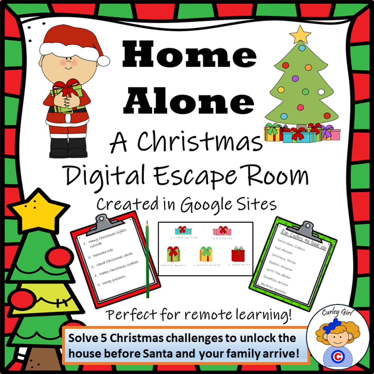 Home Alone Digital Christmas Escape Room