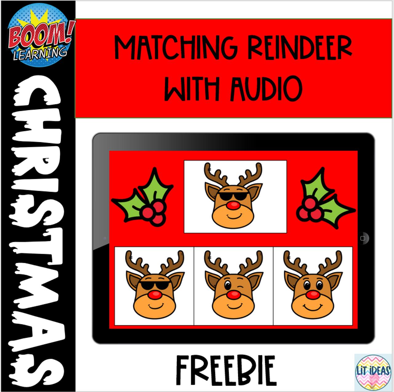 Boom Card Freebie: Match the Reindeer