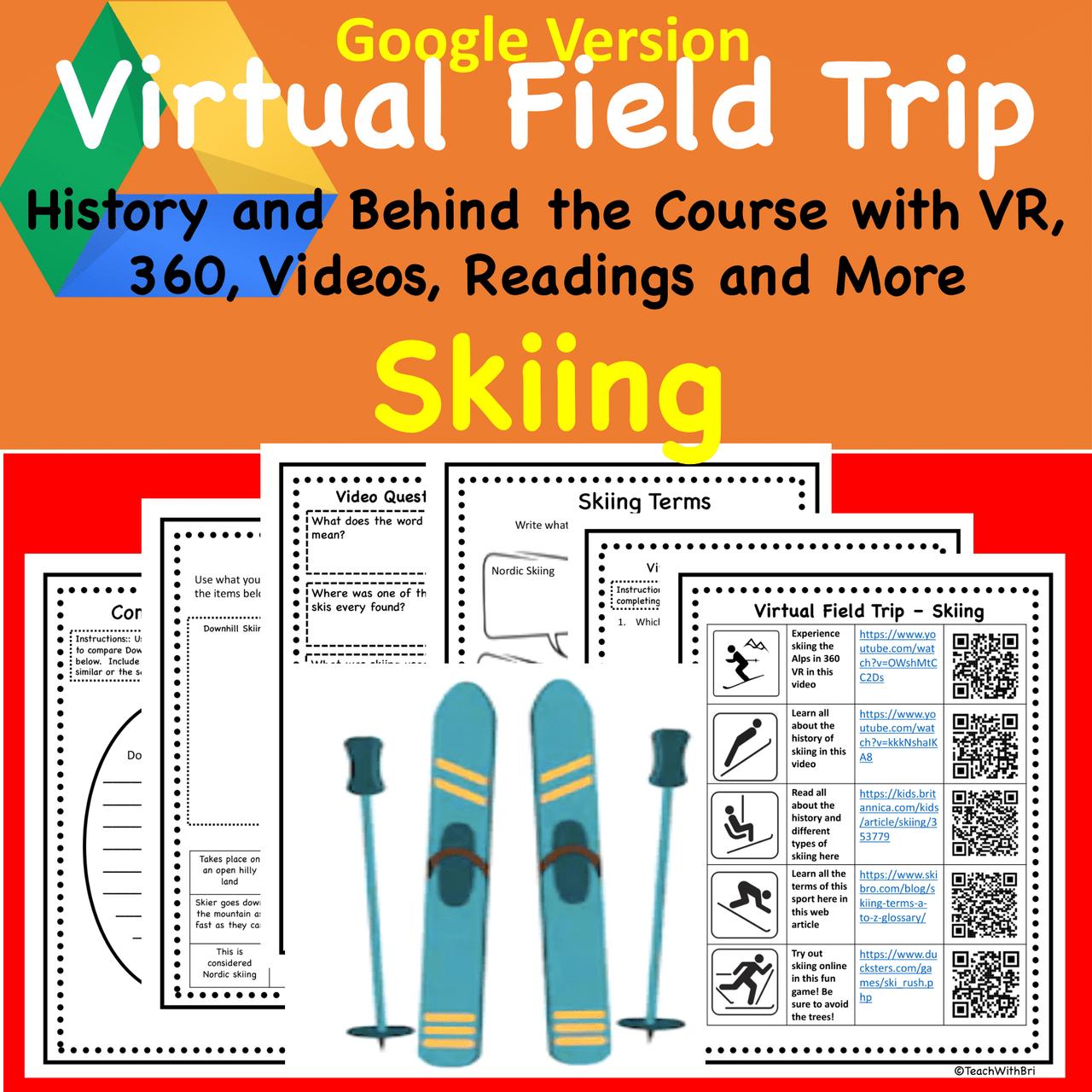 Digital Version - Virtual Field Trip - Behind the Sport- Skiing - Science & PE