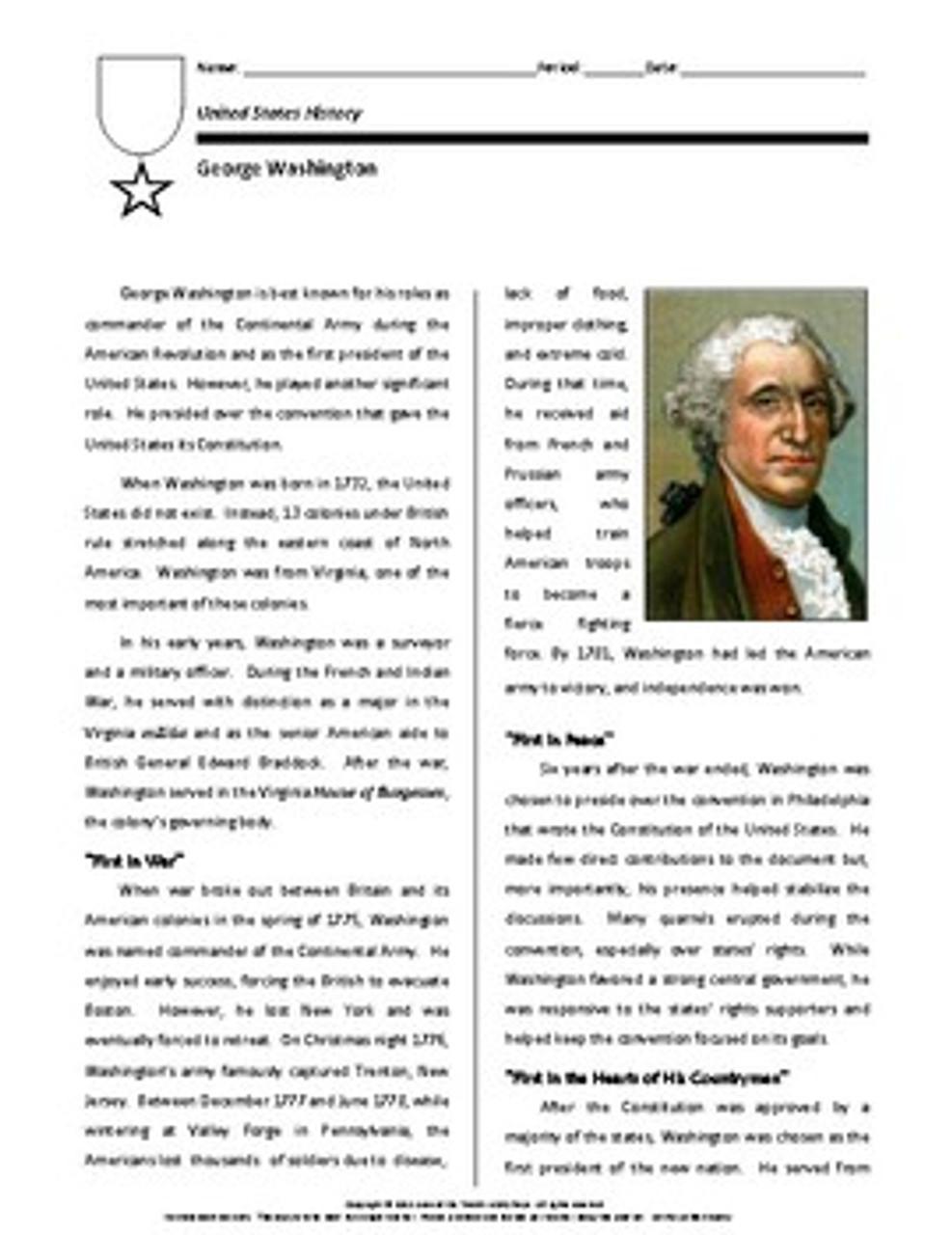Biography: George Washington