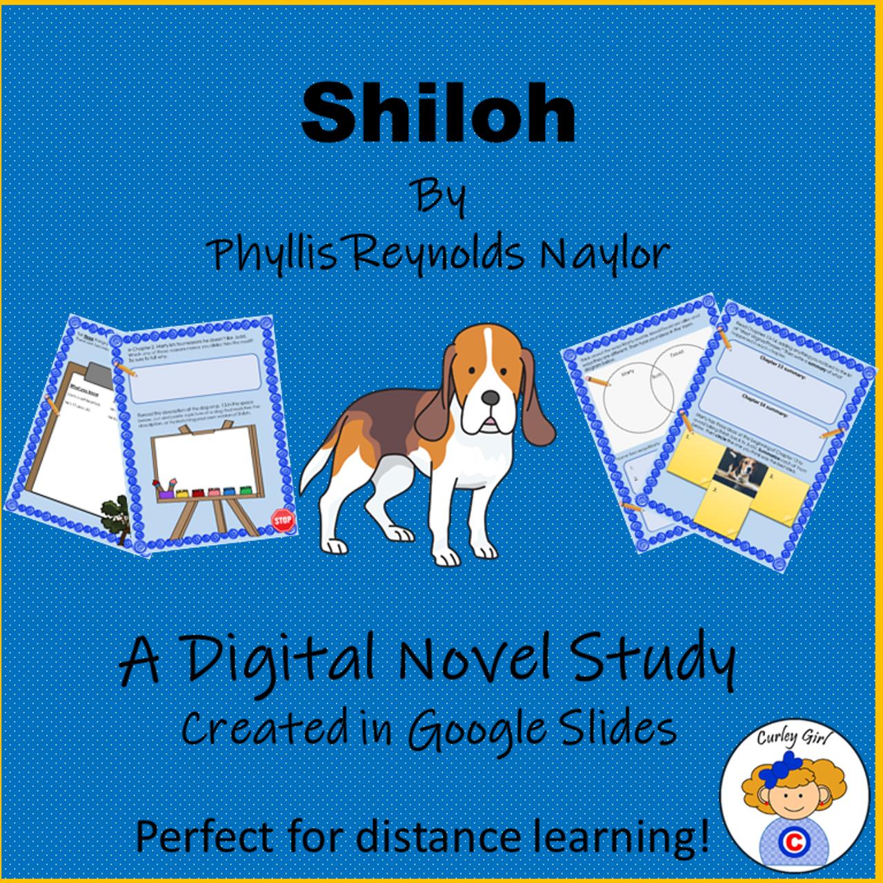 Shiloh Digital Novel Study in Google Slides