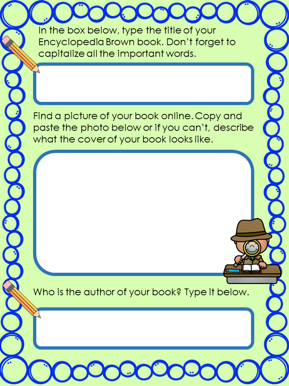 Encyclopedia Brown Series Digital Novel Study in Google Slides