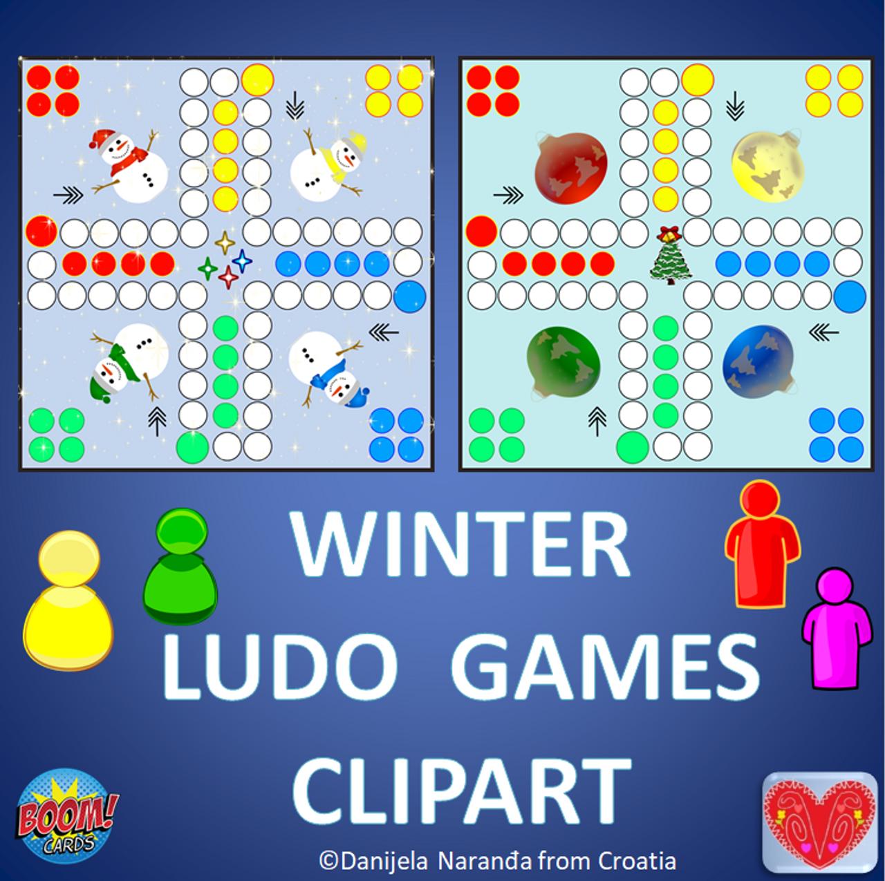 Ludo Board Math Games Clip Art