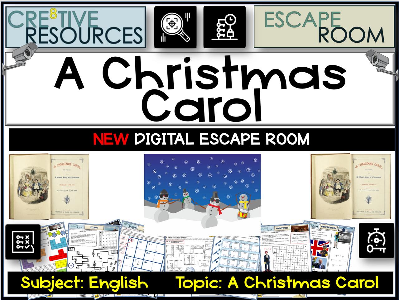 A Christmas Carol Digital Escape Room