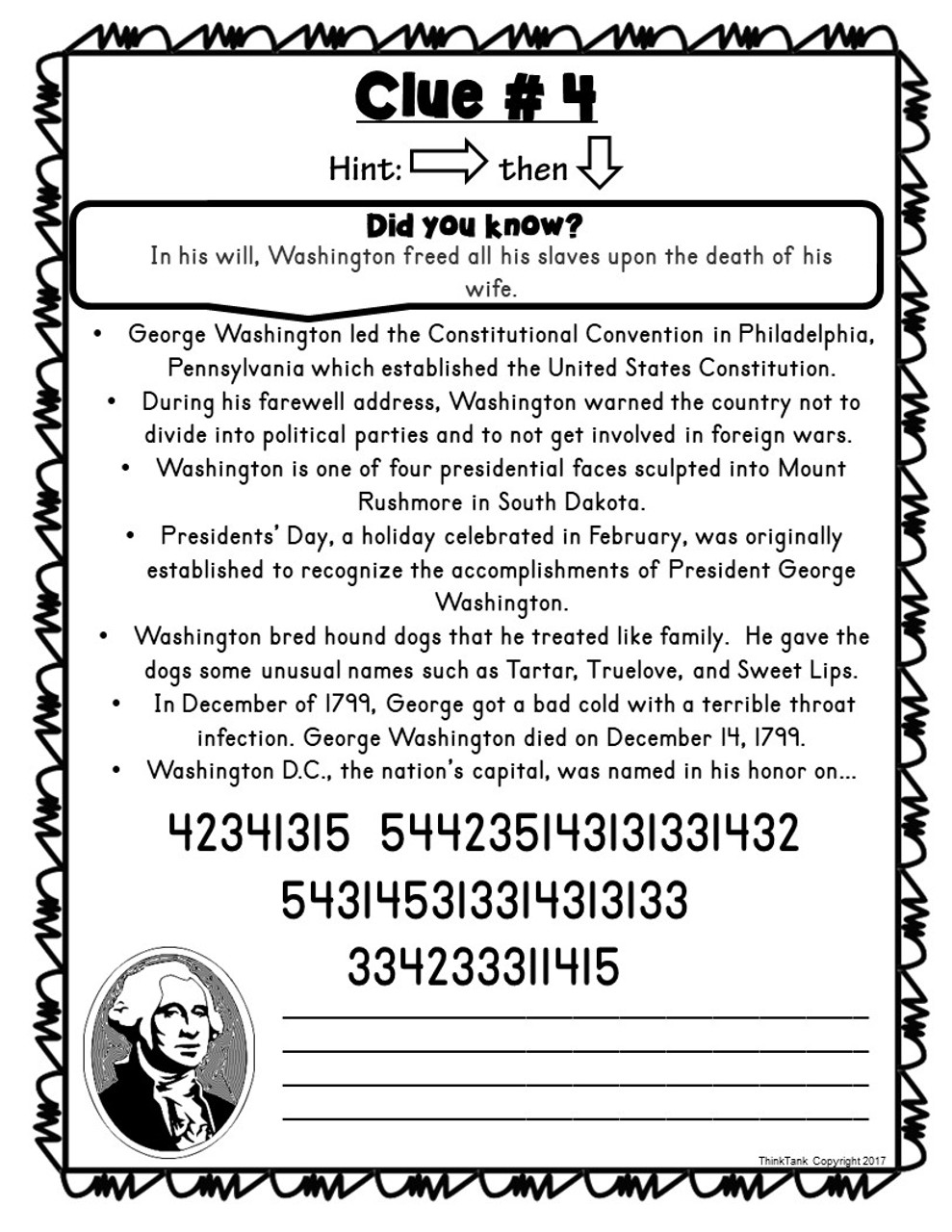 George Washington ESCAPE ROOM!