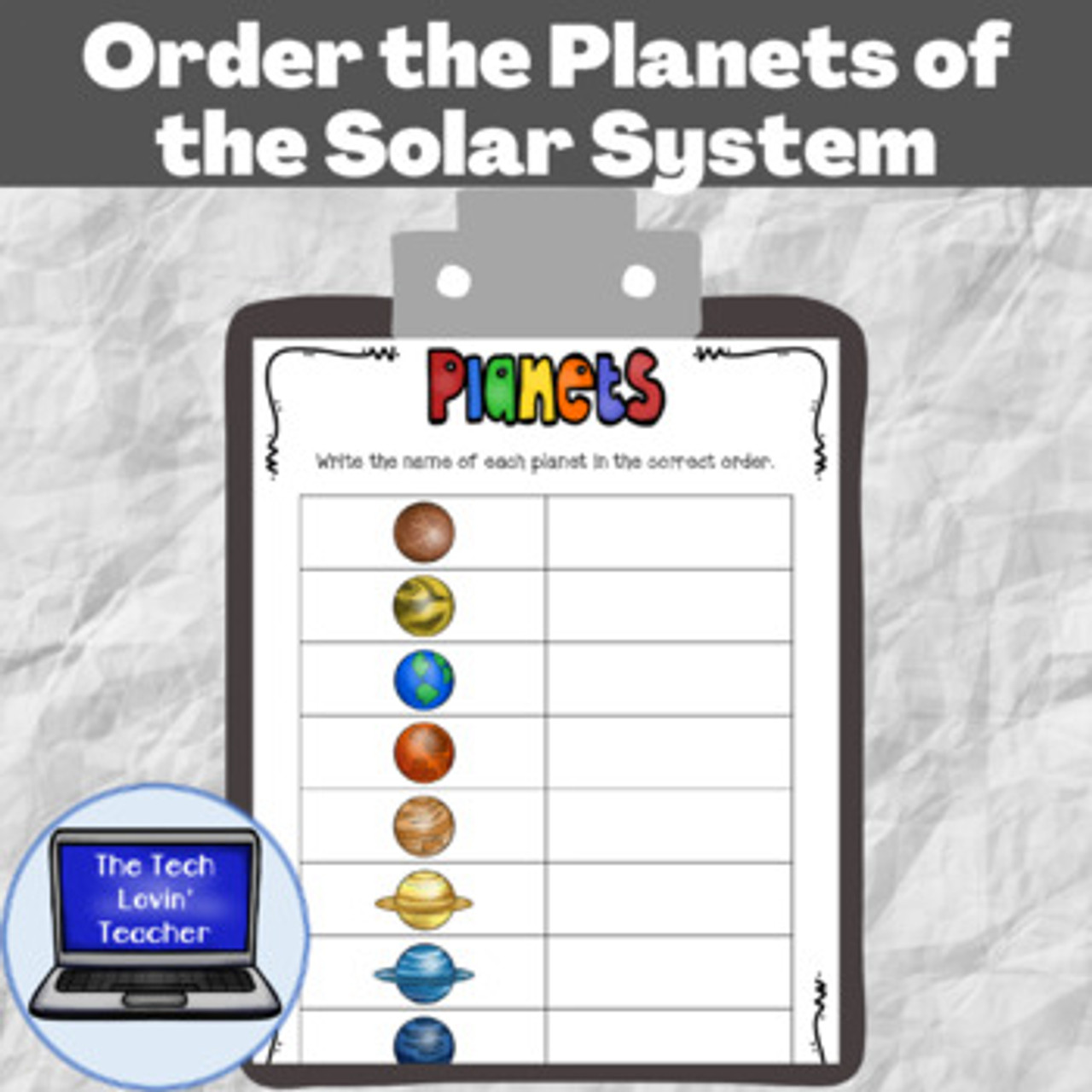 Order the Planets of the Solar System (Free)