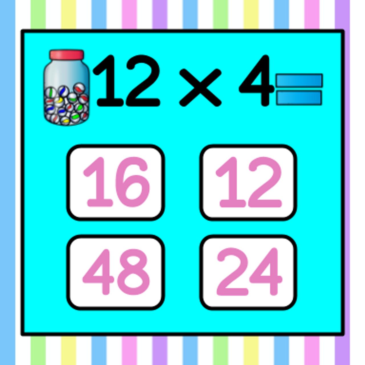 Easter Version - Multiplication Flashcard Game