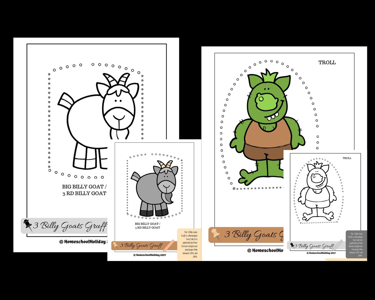 Fairy Tale Readers Theater BUNDLE 6 different scripts and Character Sticks