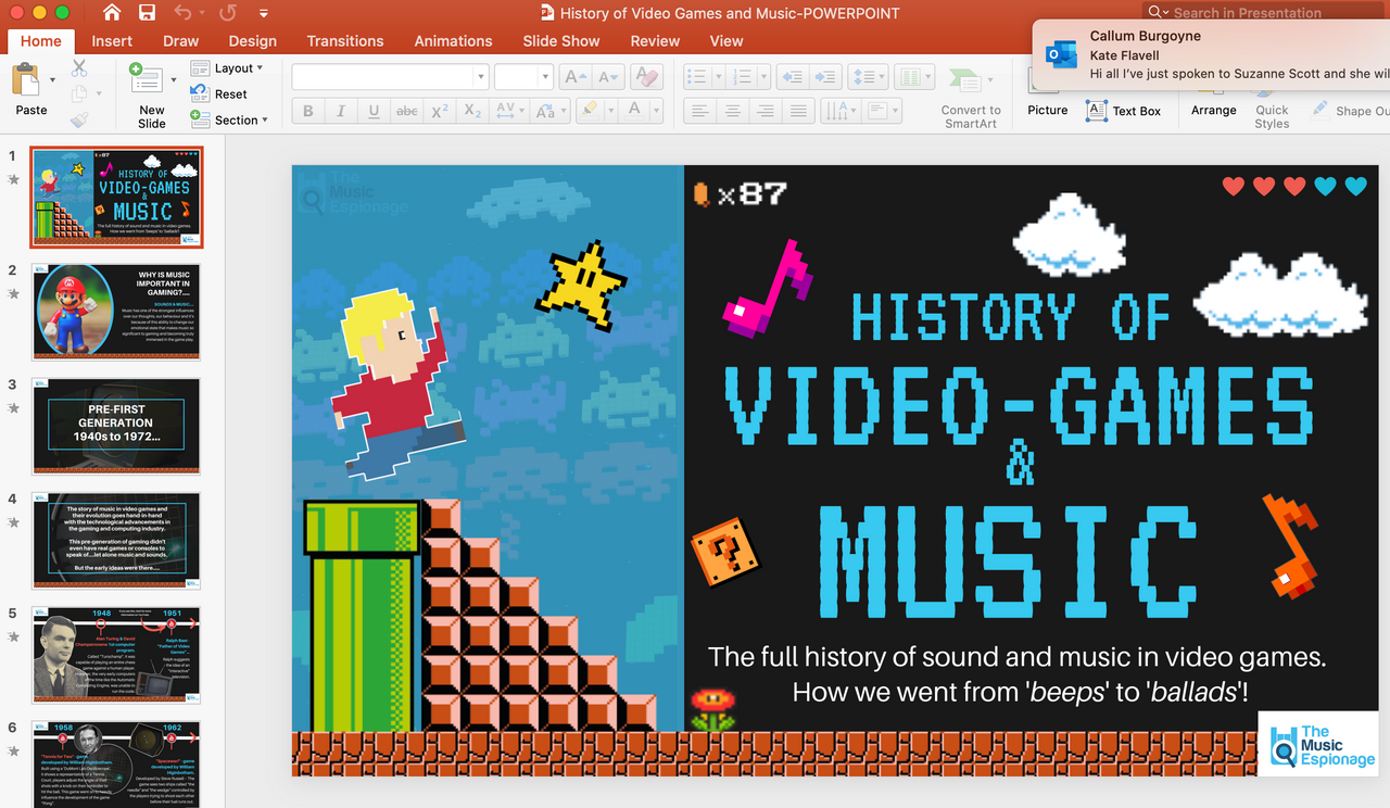 History of Video Game and Music-FULL LESSONS-Distance Learning   Google Slides™