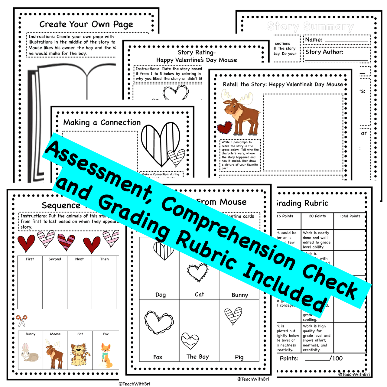FREEBIE - Happy Valentines Day Mouse- Read Aloud Activity Pack - Printable Version