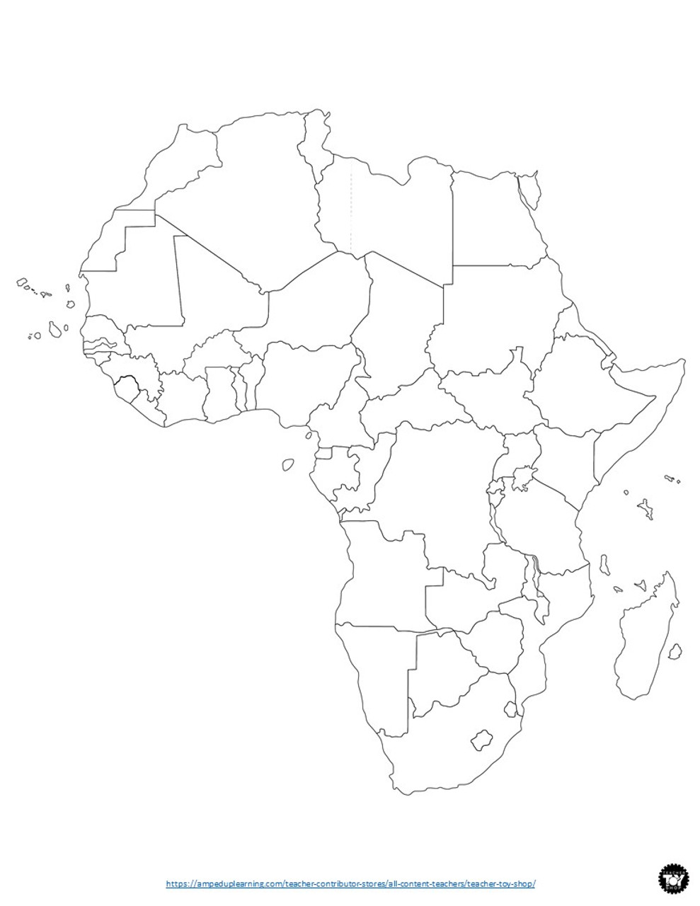 Africa Geography Activity | Make a Map! Interactive Bulletin Board Project