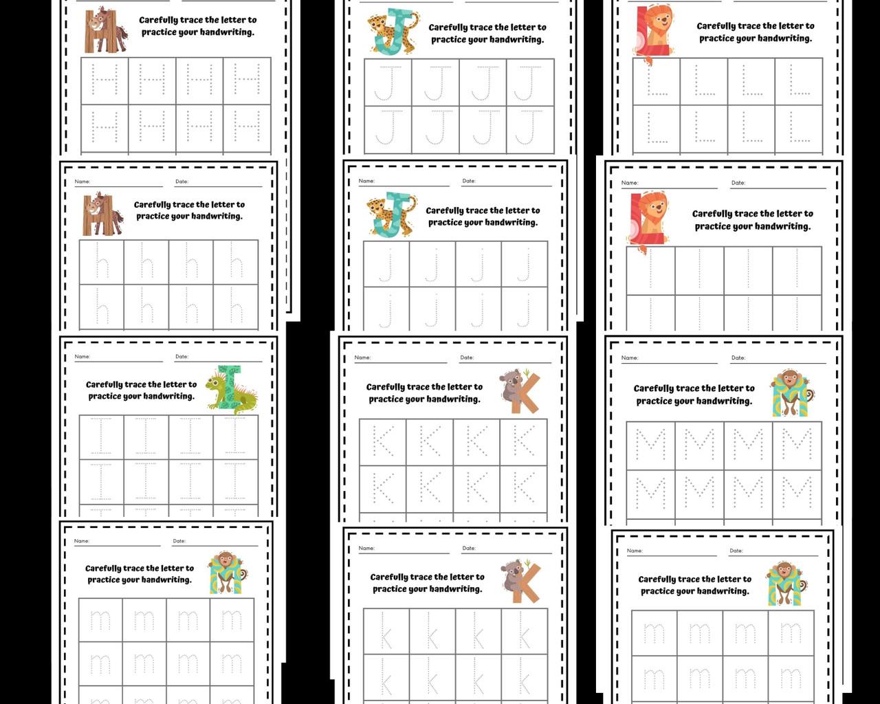 Alphabet Tracing Practice - Manuscript & Cursive Bundle