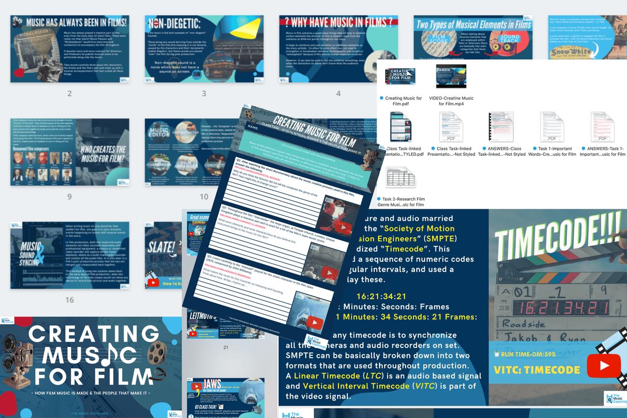 Creating Music for Film-FULL LESSON-Distance Learning | Google Slides™
