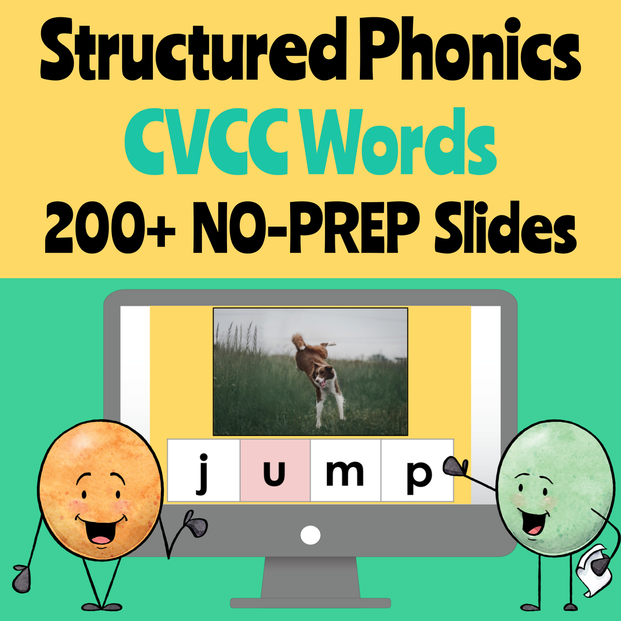 Structured Phonics Blending Board for CVCC Words (Remote Ready Resource)