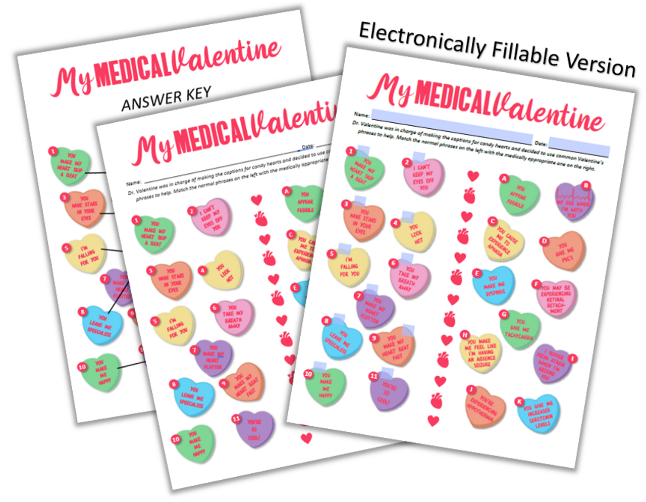 My Medical Valentine- Distance Learning Options Included!