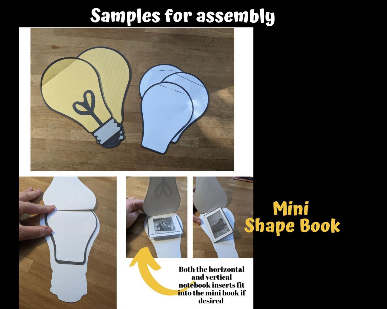 Thomas Edison Light Bulb Shape Book Informational Text & Lapbook activity