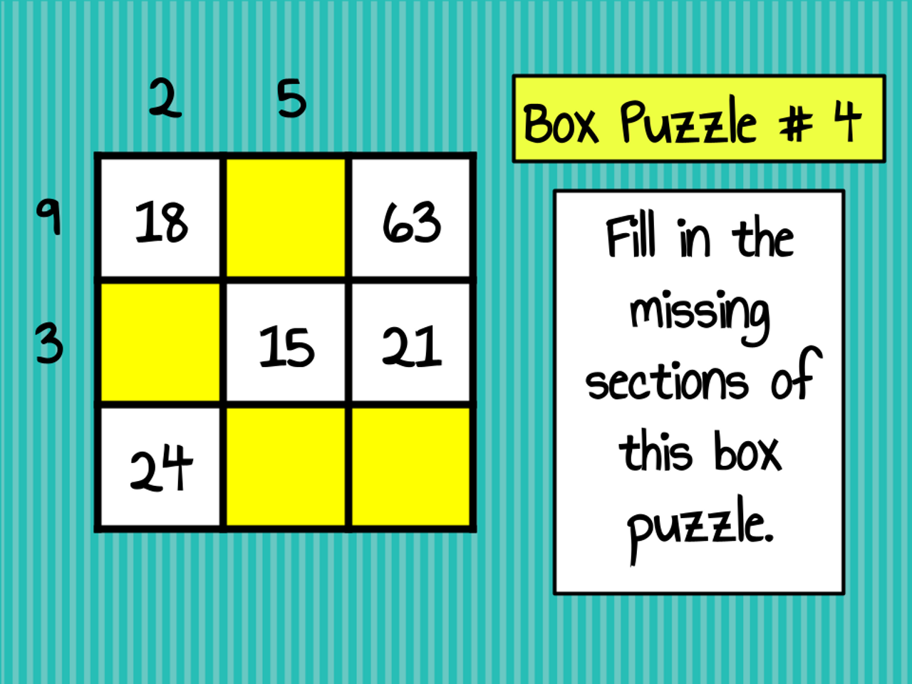 Box Puzzles 3 - Number Properties