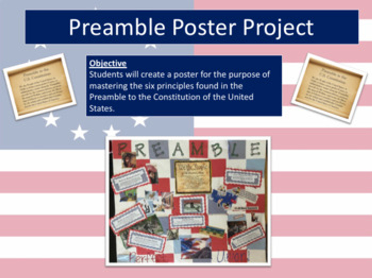 Preamble to the Constitution Poster Google Classroom Activity Distance Learning