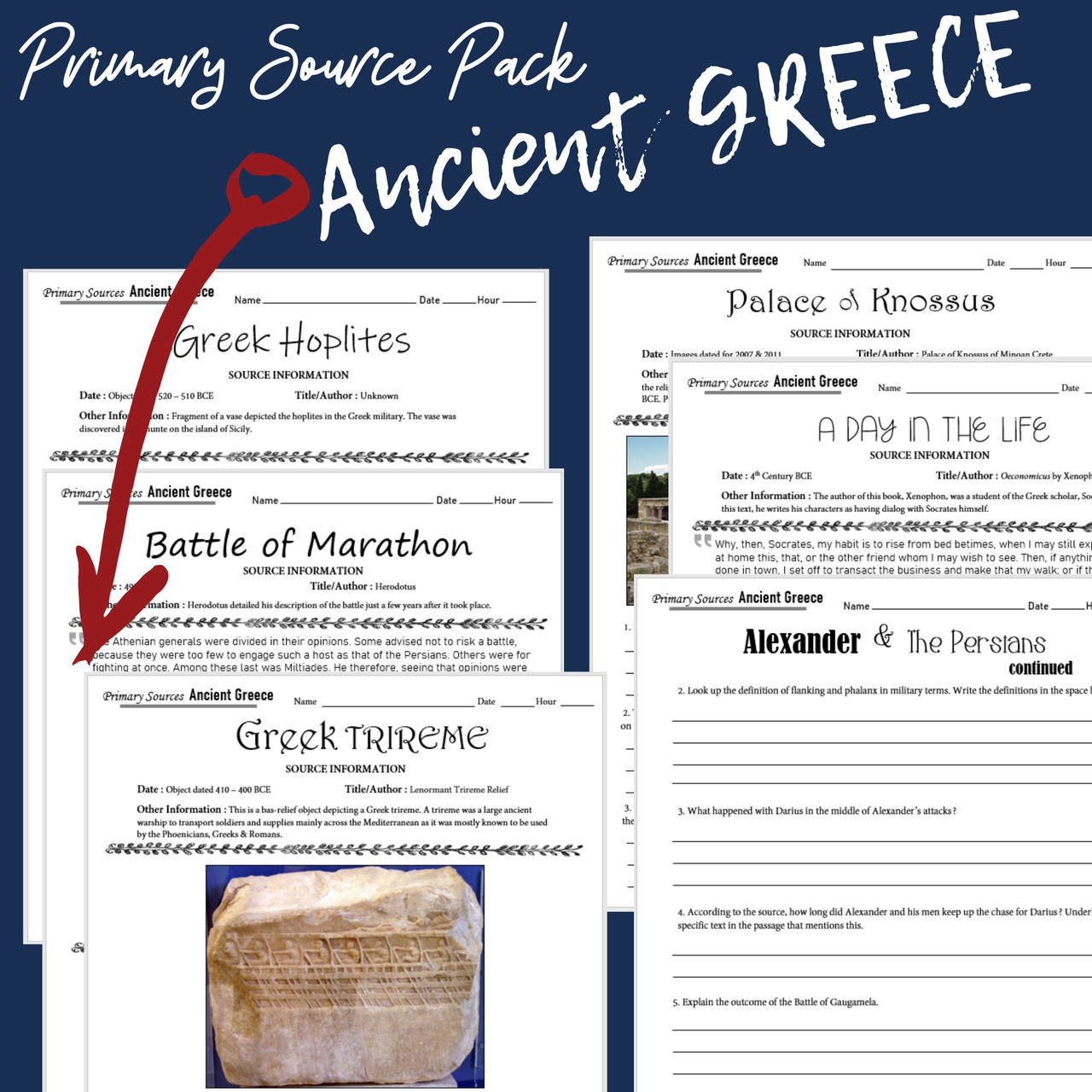 Ancient Greece Primary Source Pack (Google Compatible)
