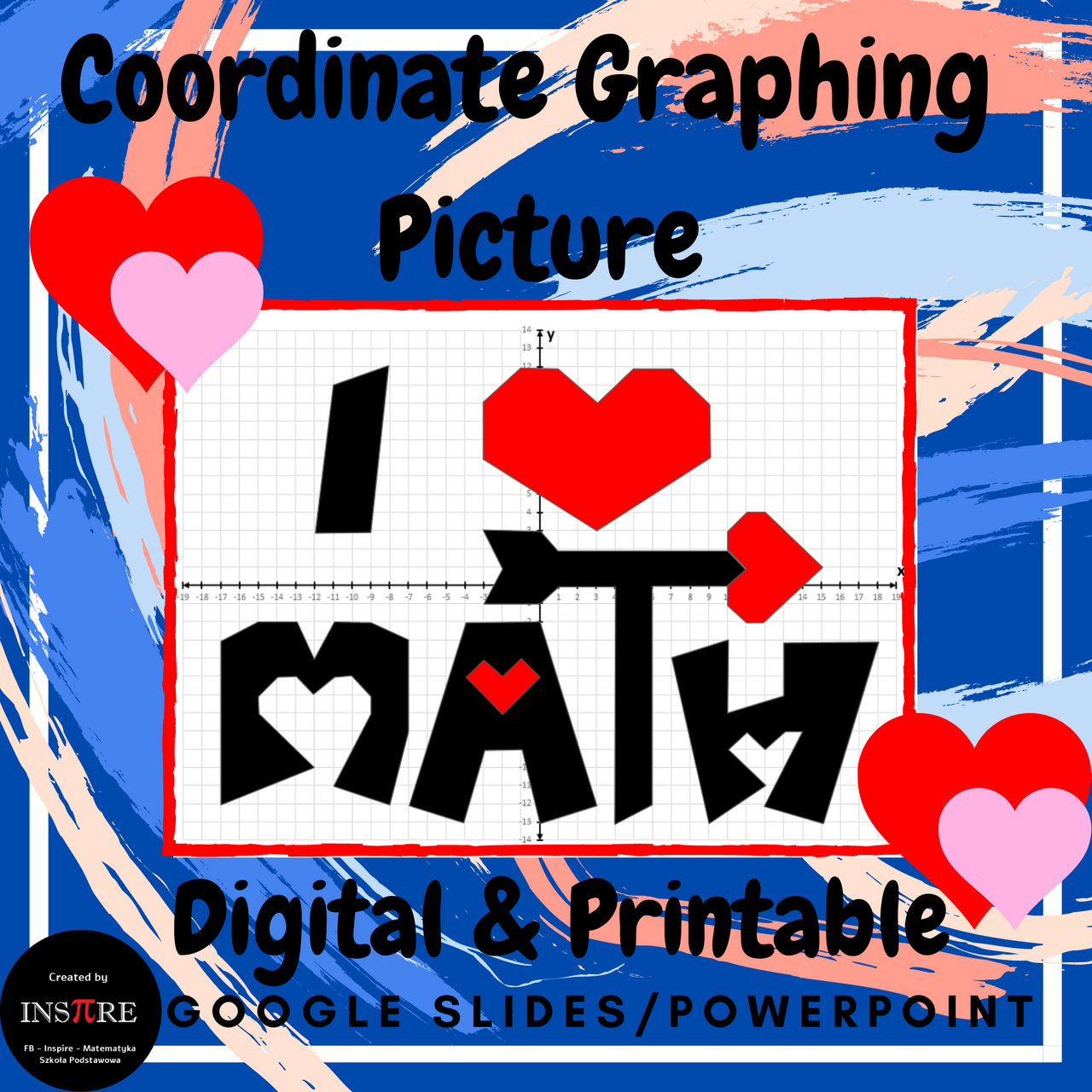 Coordinate Plane Mystery Picture Graphing 4 Quadrants Printable & Digital