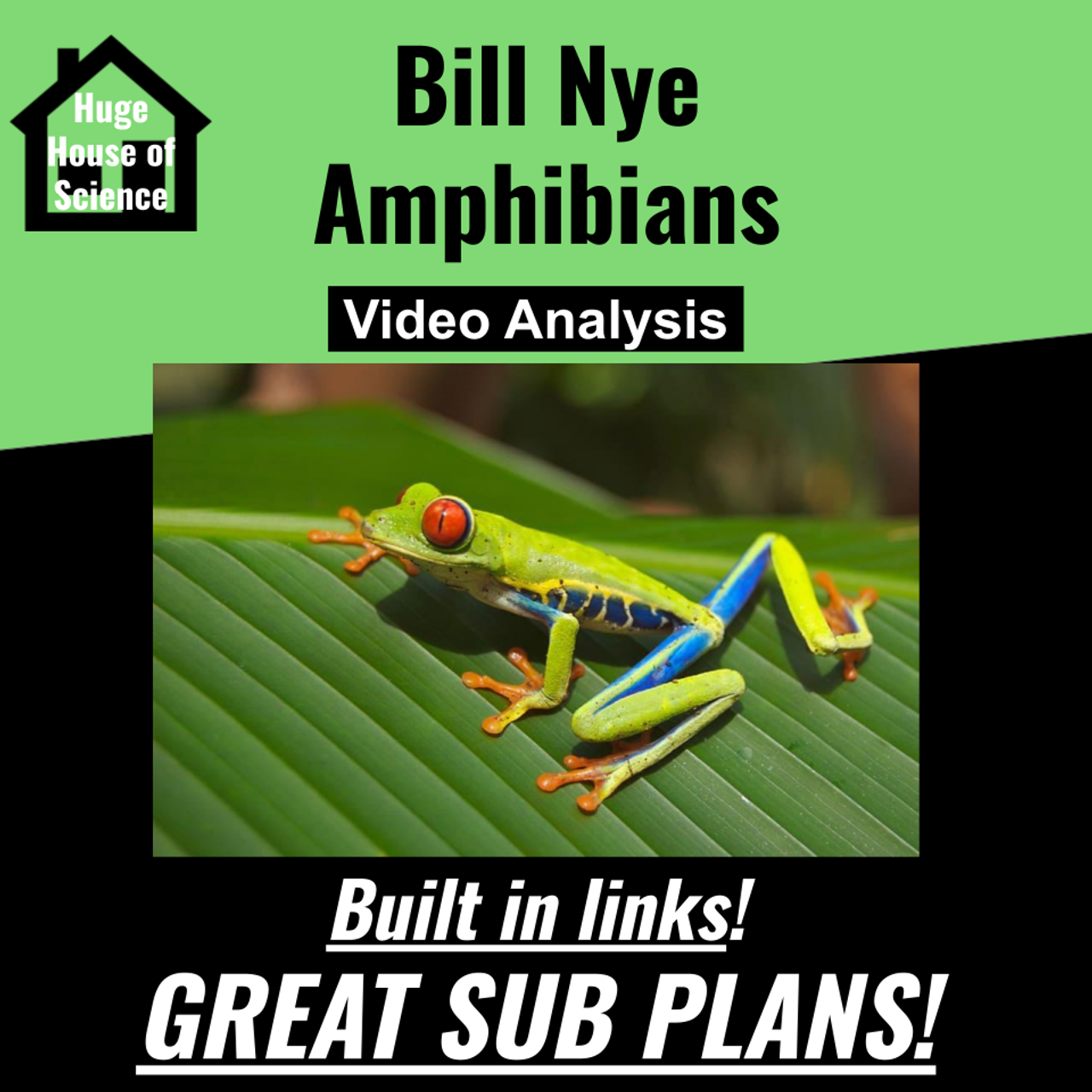 Bill Nye - Amphibians (Great sub plans or distance learning!)
