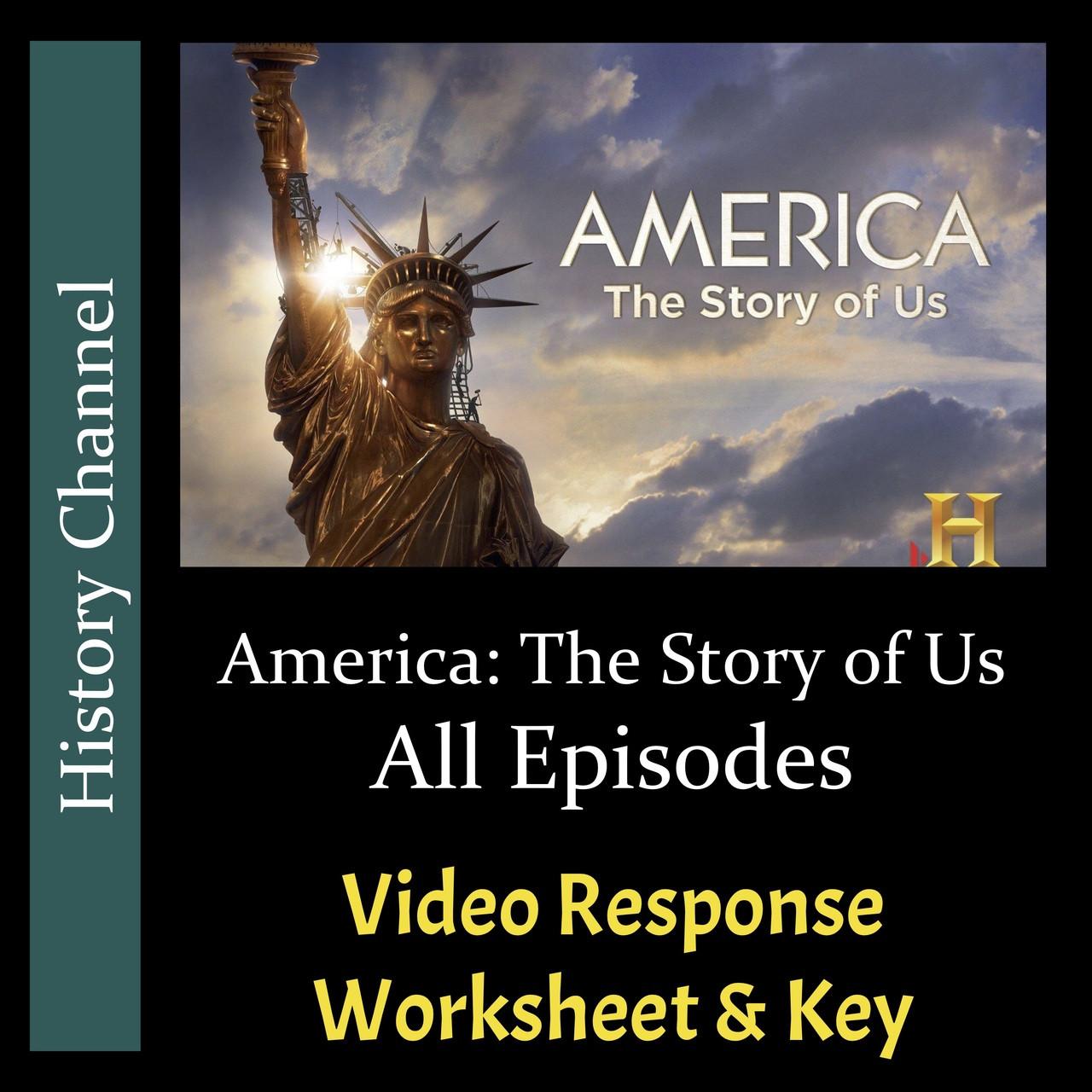 America The Story of Us - All Episode Bundle - Video Response Worksheets & Keys (Editable)