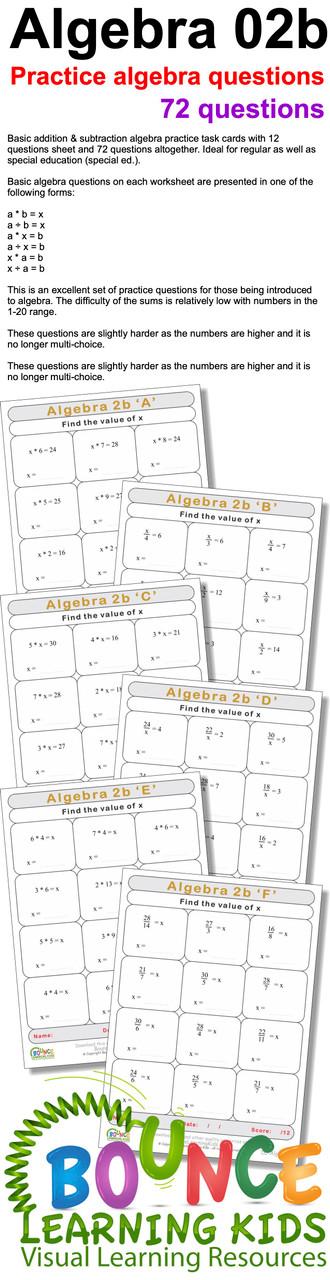Algebra 2b preview