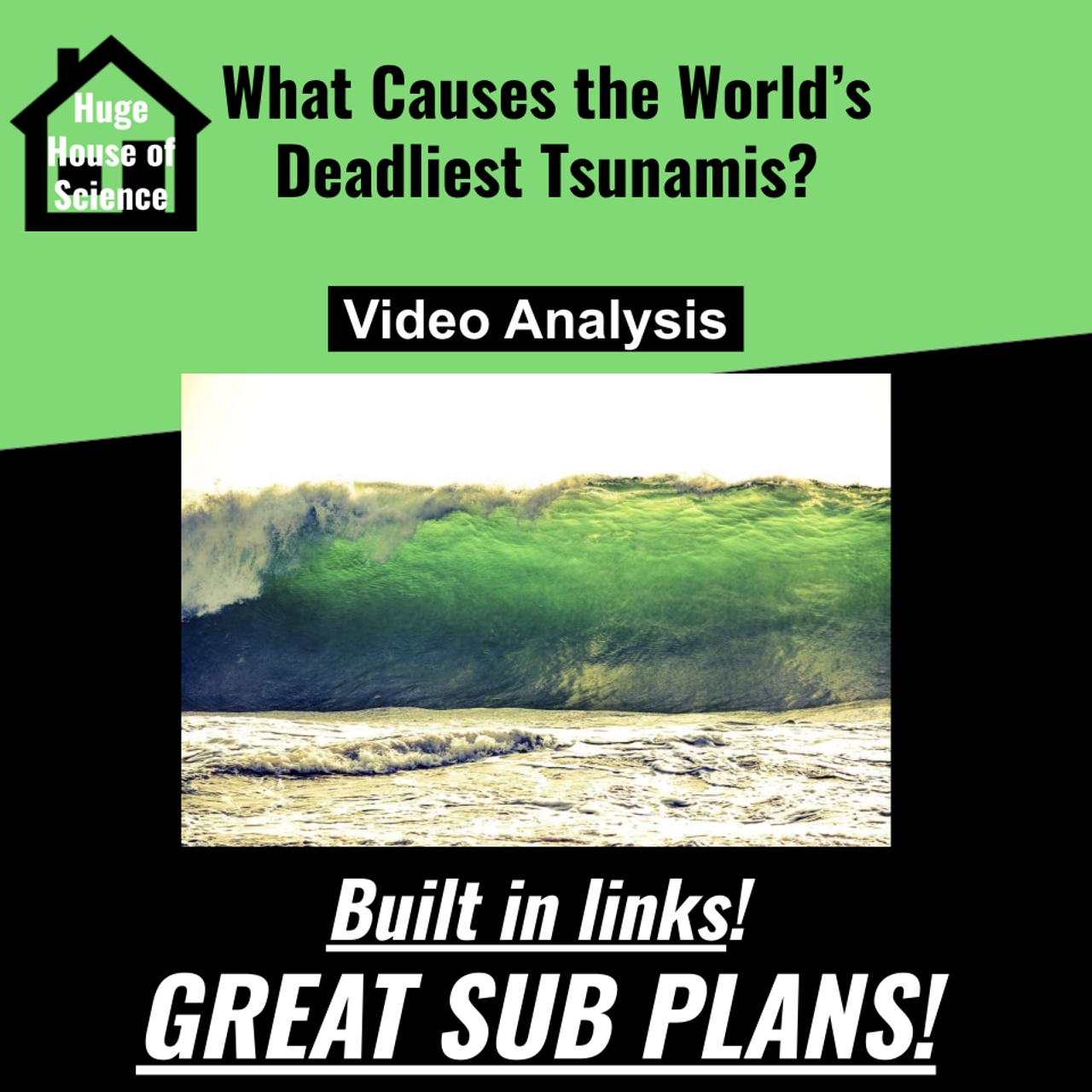 What Causes the Worlds Deadliest Tsunamis Video Analysis (Great sub plans!)