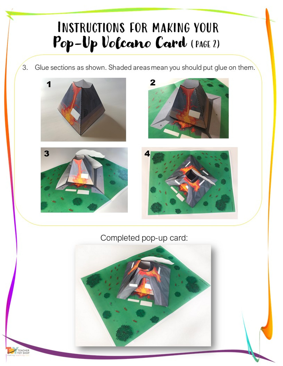 Volcano Craft | Natural Disasters Activity | Earth Science STEM Pop-Up Card