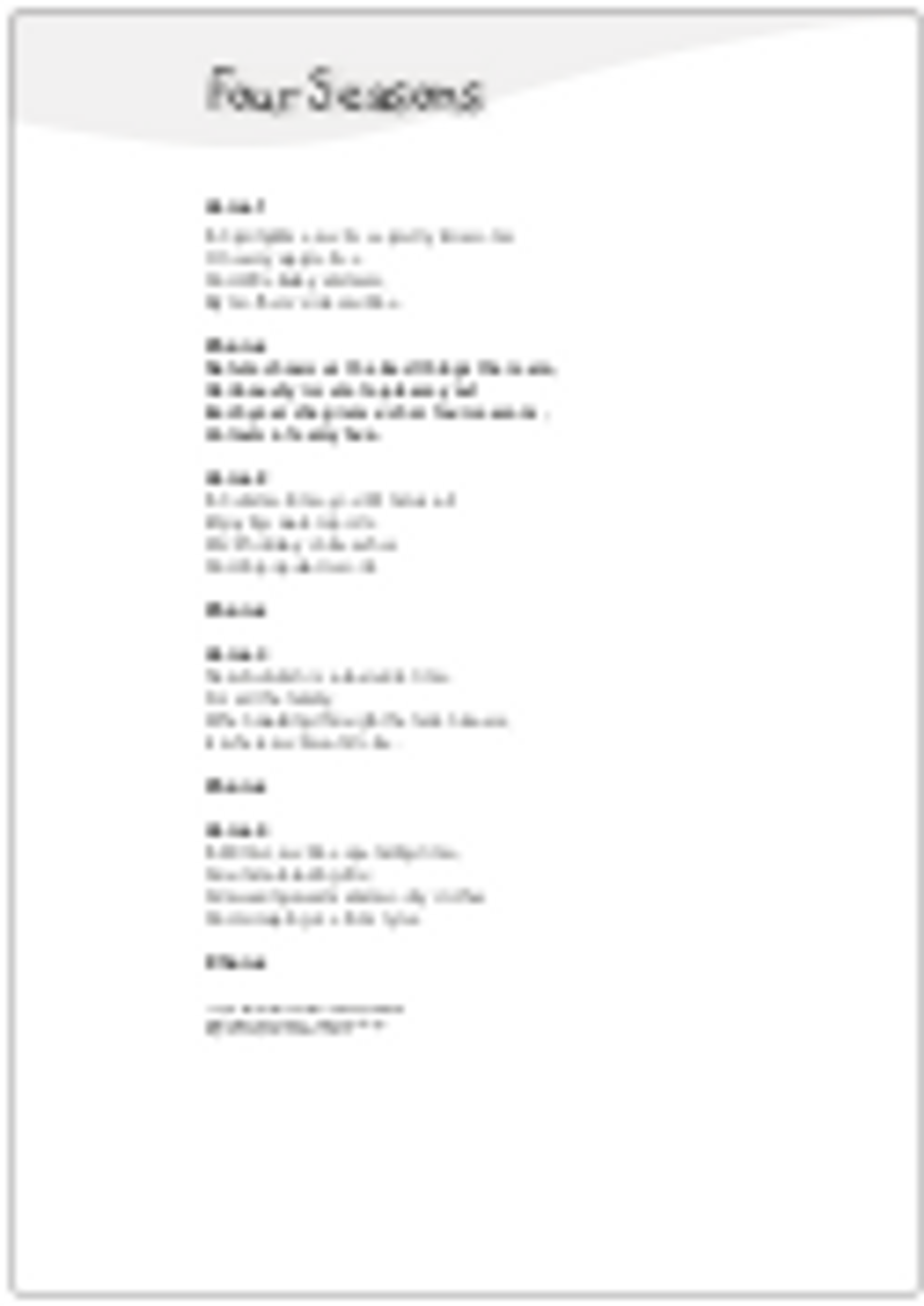 4 CURRICULUM-ALIGNED POEMS (Various Grades ) ~ Our World