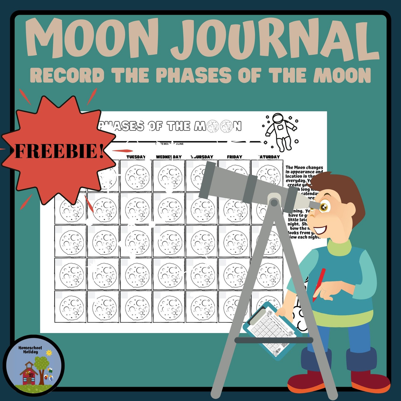 Phases of the Moon Journal - FREE