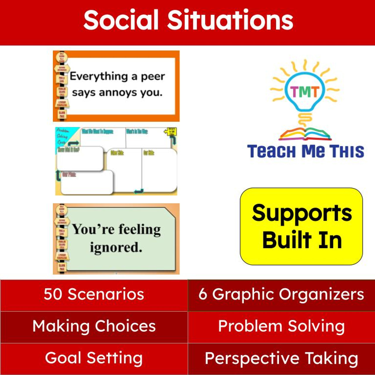 Social Emotional Learning Activities with Graphic Organizers