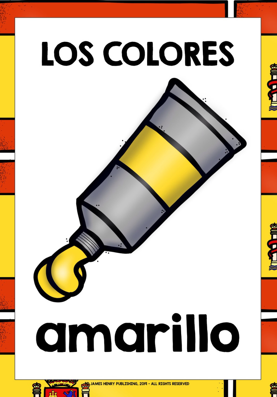 SPANISH COLORS FLASHCARDS POSTERS