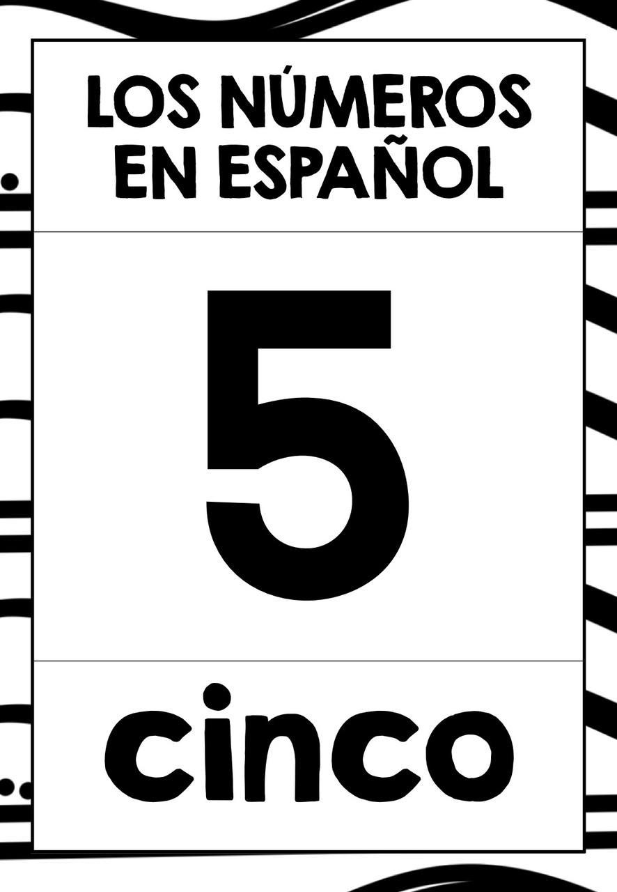 SPANISH NUMBERS 0-31 FLASHCARDS POSTERS