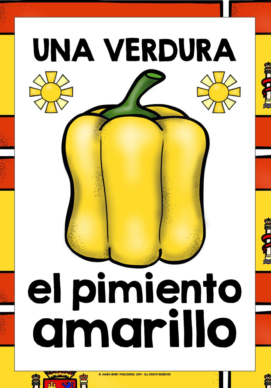 SPANISH VEGETABLES FLASHCARDS POSTERS